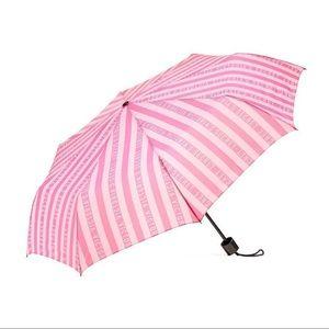 Victoria's Secret Pink/White Stripe Umbrella